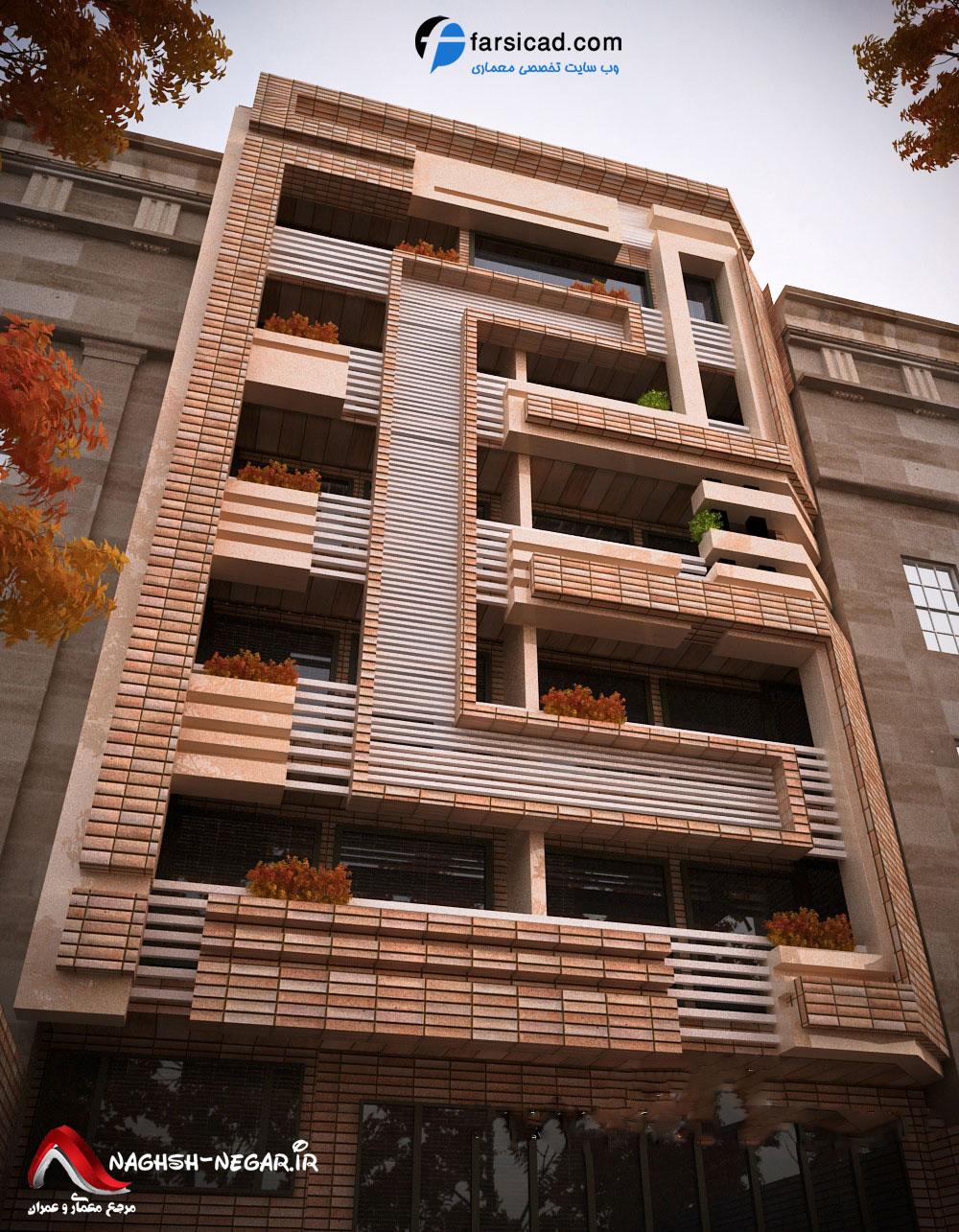فروش طبقه چهارم از آپارتمان 6 طبقه در شهرک آزادی